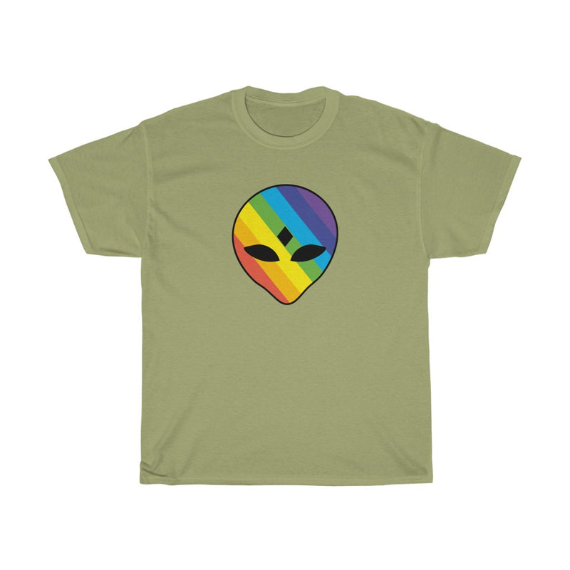 Rainbow 3rd Eye Alien Unisex Heavy Cotton Tee
