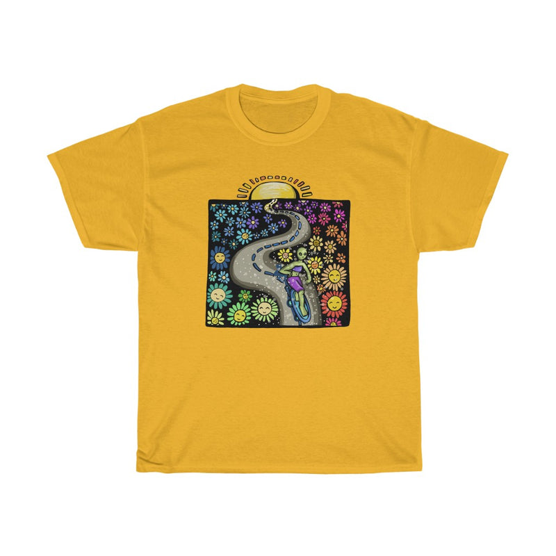 Alien Sunset Skater | Unisex Heavy Cotton Tee | Savage Bliss