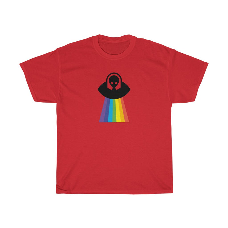 Rainbow UFO Unisex Heavy Cotton Tee