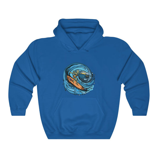 Alien Surfer | Unisex Heavy Blend™ Hooded Sweatshirt | Savage Bliss