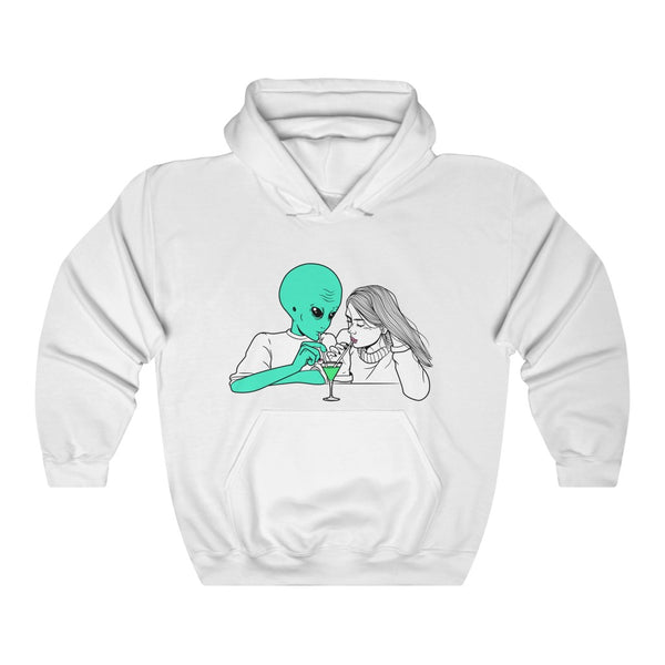 Alien Cocktail | Unisex Heavy Blend™ Hooded Sweatshirt | Alicia In Space