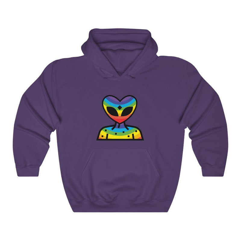 Rainbow Alien Being Unisex Heavy Blend™ Hooded Sweatshirt