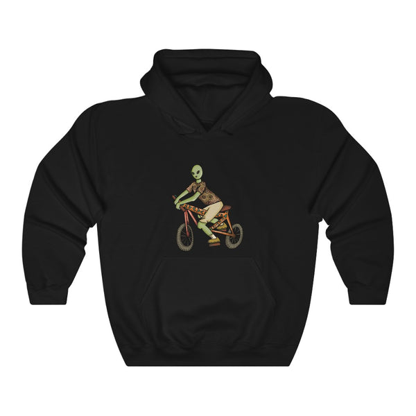 1 Aliens Bicycle  Unisex Heavy Blend™ Hooded Sweatshirt | Savage Bliss