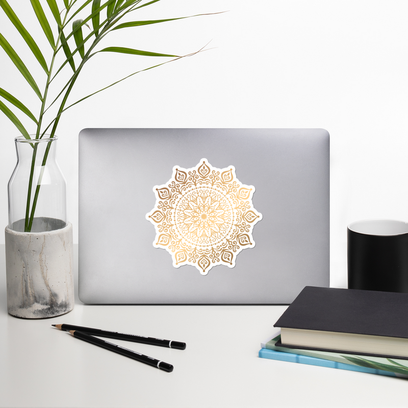 Golden Mandala 4 - Bubble-free stickers