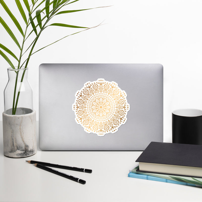 Golden Mandala 9 - Bubble-free stickers