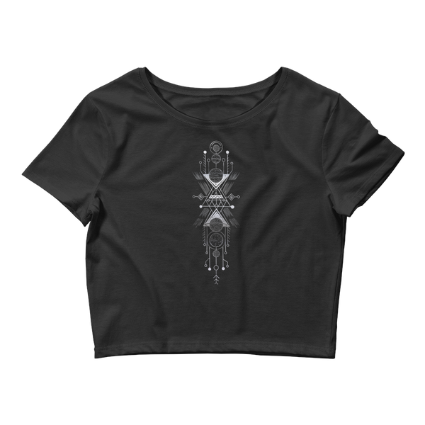 Interplanetary Geometry 1 - Women's Crop Tee