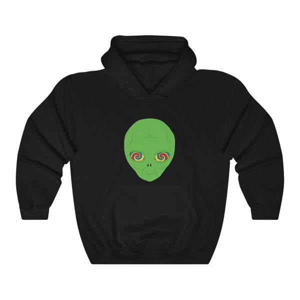 Alien Hypnotizer | Unisex Heavy Blend™ Hooded Sweatshirt | Big K Draws