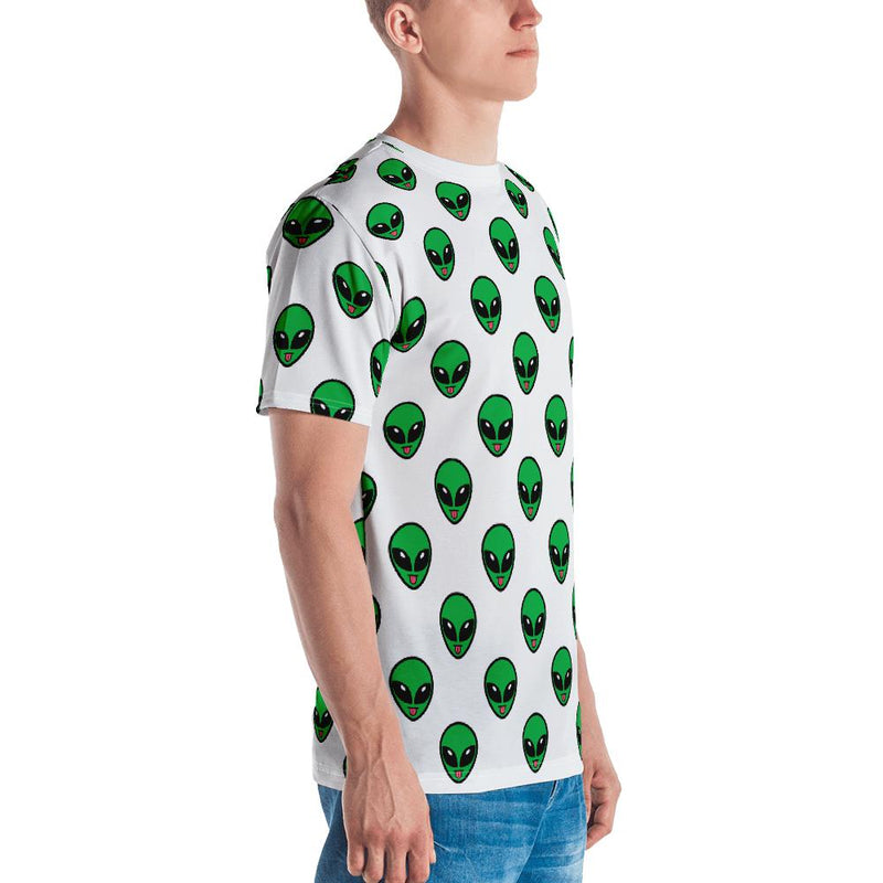 Alien Clothing - All Over Tongue Emoji Alien T-shirt | Unisex - Alien Symbology