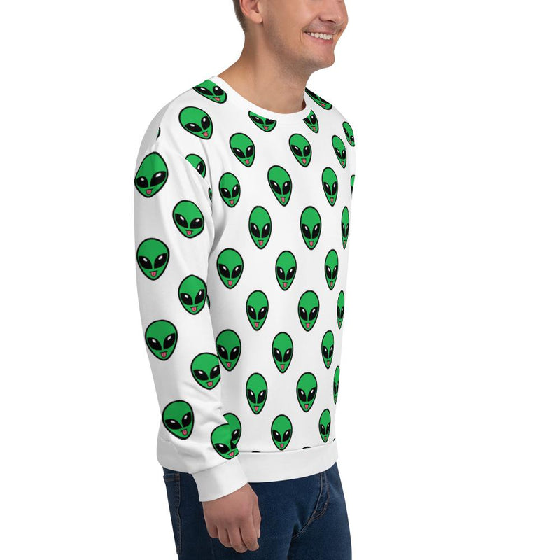 Alien Clothing - All Over Tongue Emoji Unisex Sweatshirt - Alien Symbology