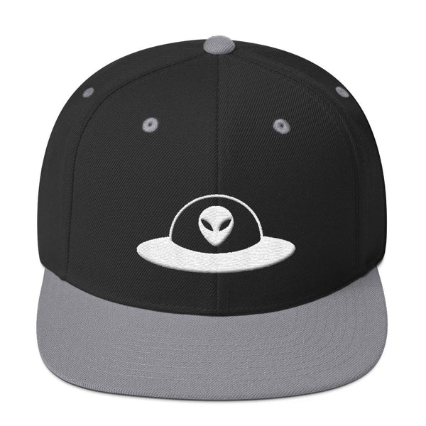 Alien Clothing - Flying Saucer Alien Snapback Hat - Alien Symbology