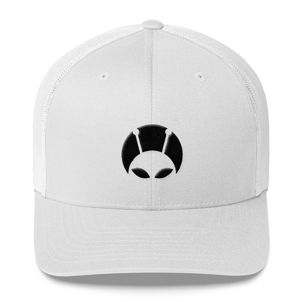 Alien Clothing - Peekaboo Alien Mesh Hat - Trucker Cap - Alien Symbology