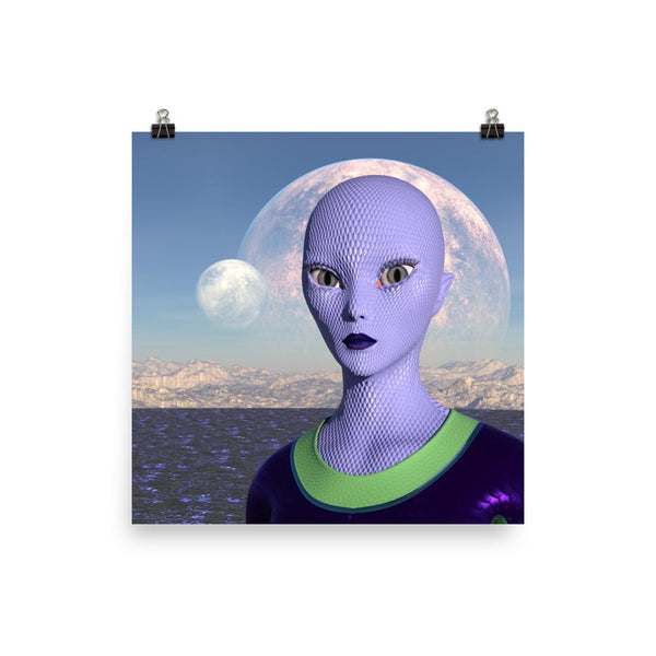 Alien Clothing - Andromeda Alien Poster - Alien Symbology