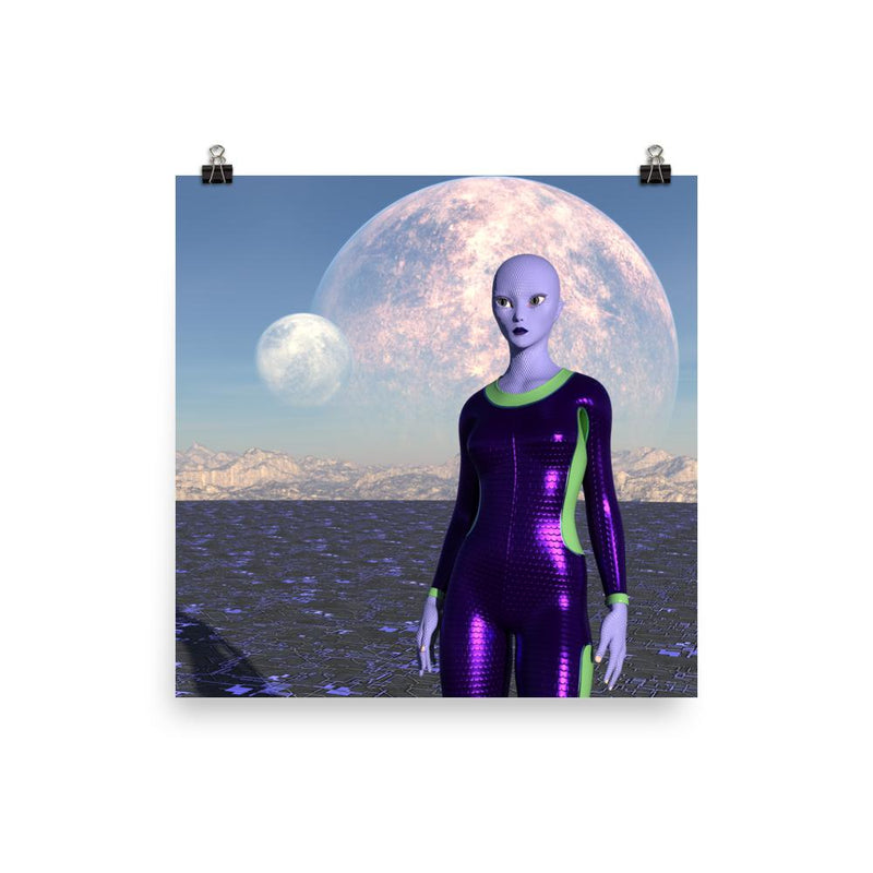Alien Clothing - Andromeda Alien Poster Full - Alien Symbology