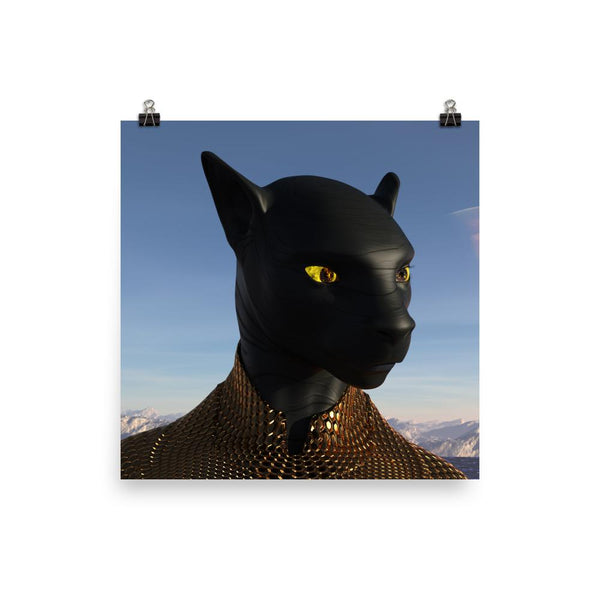 Alien Clothing - Black Panther Alien Poster - Alien Symbology