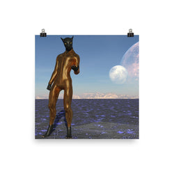 Alien Clothing - Black Panther Alien Poster Full - Alien Symbology
