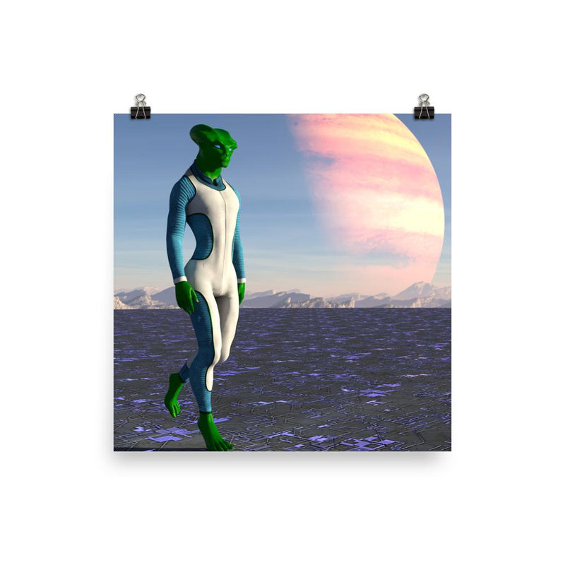 Alien Clothing - Reptile Alien Poster - Alien Symbology