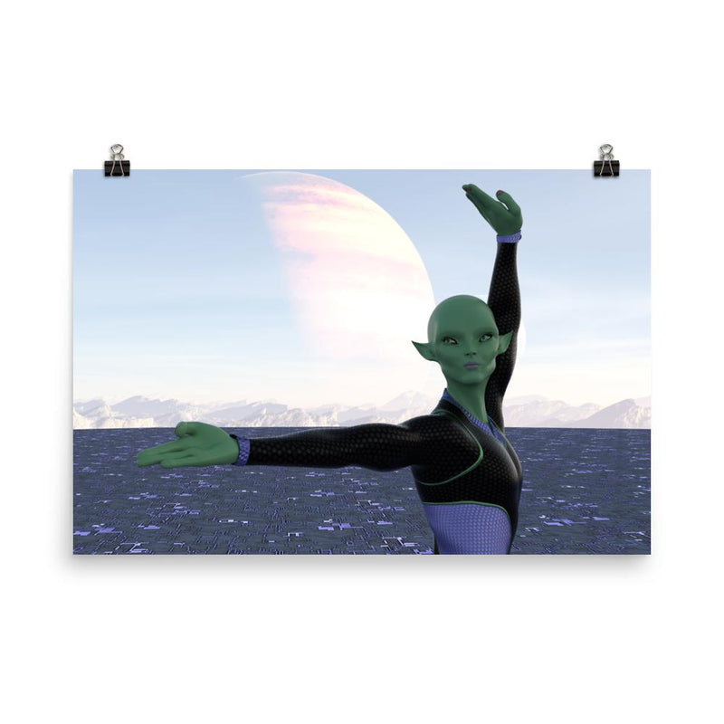 Alien Clothing - Yuki Dance Alien Poster - Alien Symbology