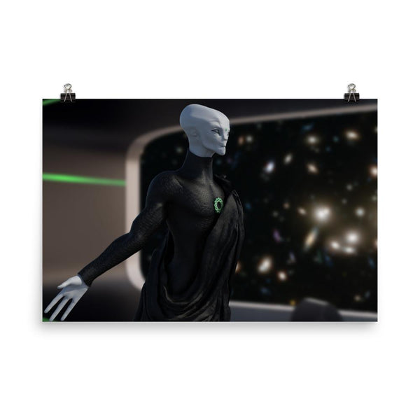Alien Clothing - Zylok Basking On The Bridge Alien Poster - Alien Symbology