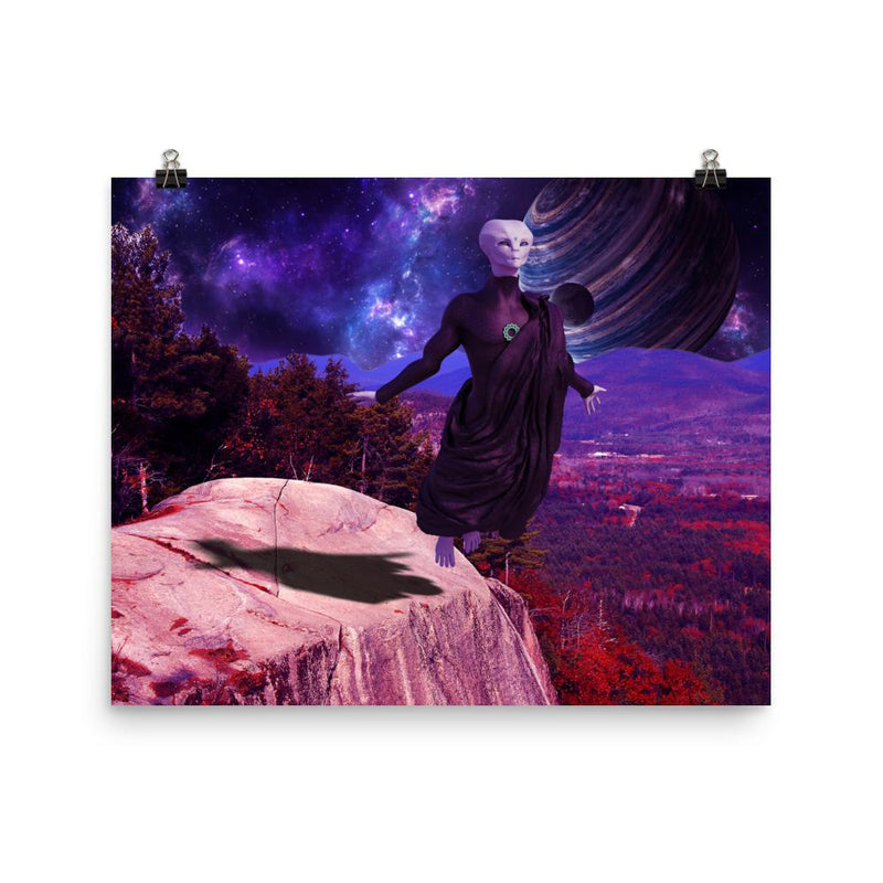 Alien Clothing - Zylok Flying Alien Poster - Alien Symbology