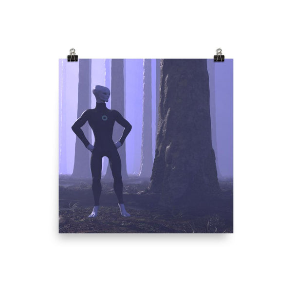 Alien Clothing - Zylok In The Forest Alien Poster - Alien Symbology