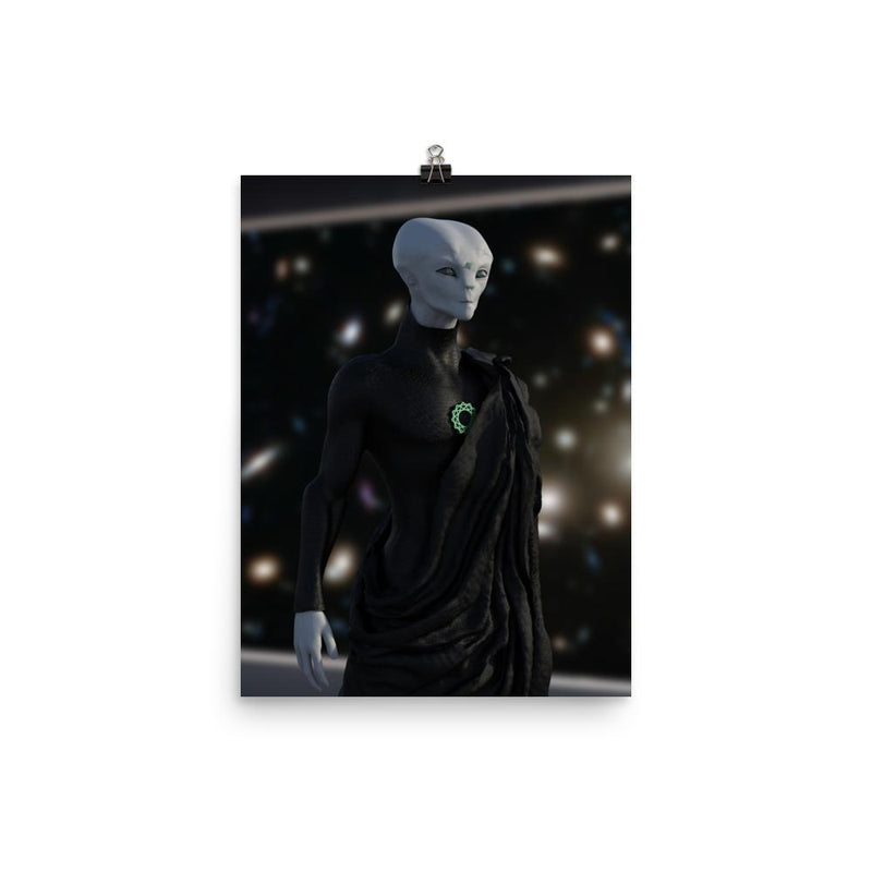 Alien Clothing - Zylok On The Bridge Alien Poster - Alien Symbology
