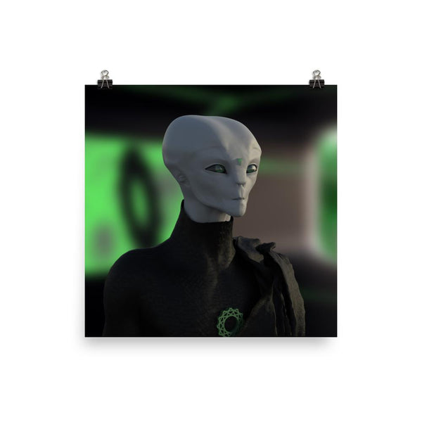 Alien Clothing - Zylok Portrait Alien Poster - Alien Symbology