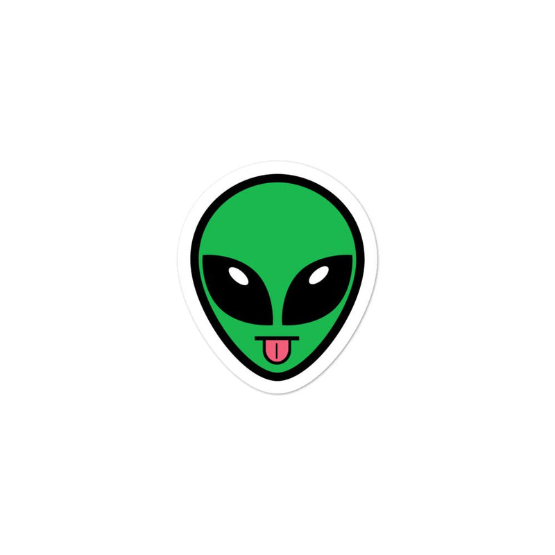Alien Clothing - Tongue Out Alien Emoji Sticker Bubble-free stickers - Alien Symbology