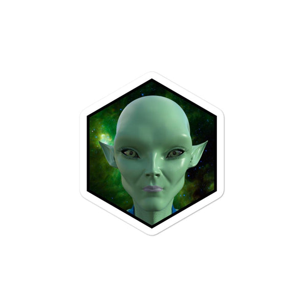 Alien Clothing - Yuki Portrait Alien Sticker Bubble-free stickers - Alien Symbology