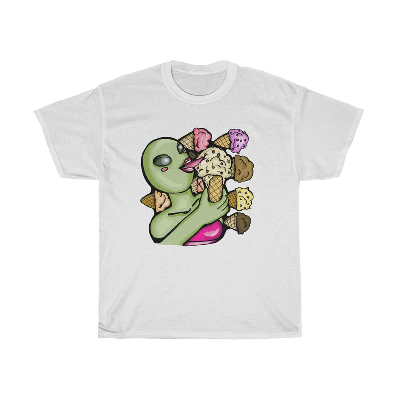 Aliens Love Ice Cream | Unisex Heavy Cotton Tee | Savage Bliss