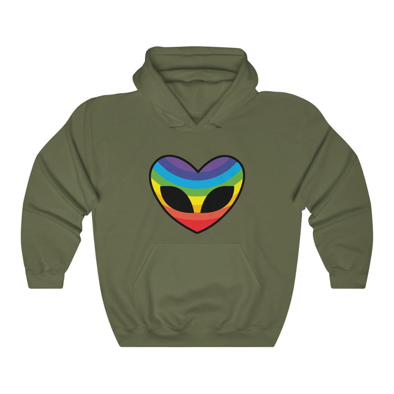 Heart Rainbow Alien Unisex Heavy Blend™ Hooded Sweatshirt
