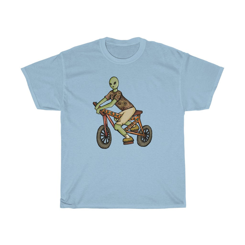 1 Alien Bicycle | Unisex Heavy Cotton Tee | Savage Bliss