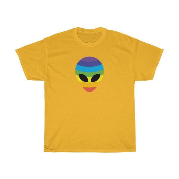 Rainbow Alien Unisex Heavy Cotton Tee