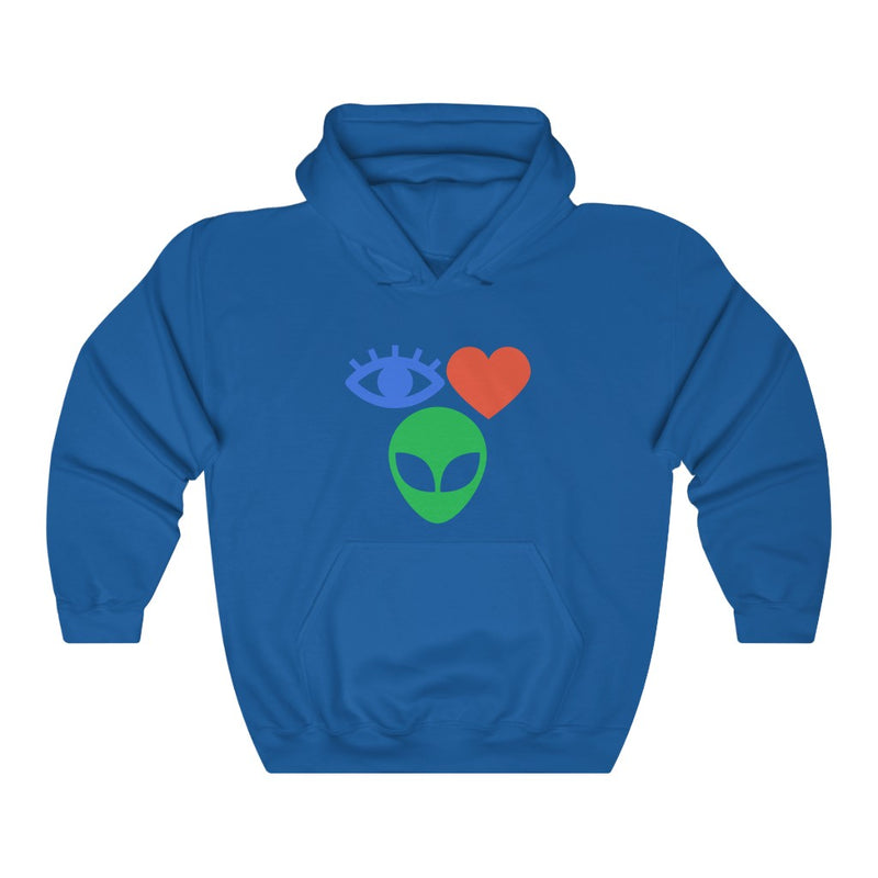 I Love Aliens Unisex Heavy Blend™ Hooded Sweatshirt