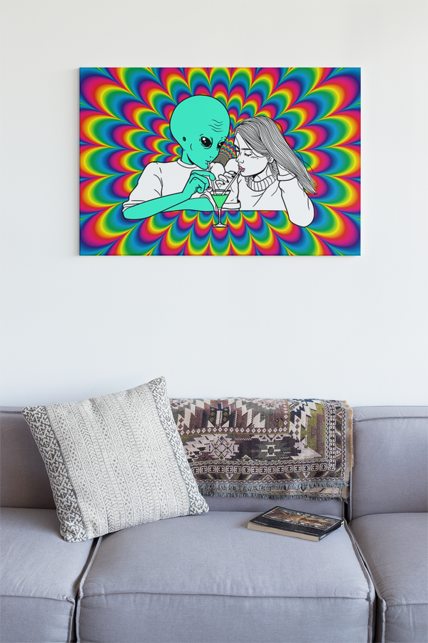 Alien Cocktail | Premium Matte horizontal posters | Alicia In Space