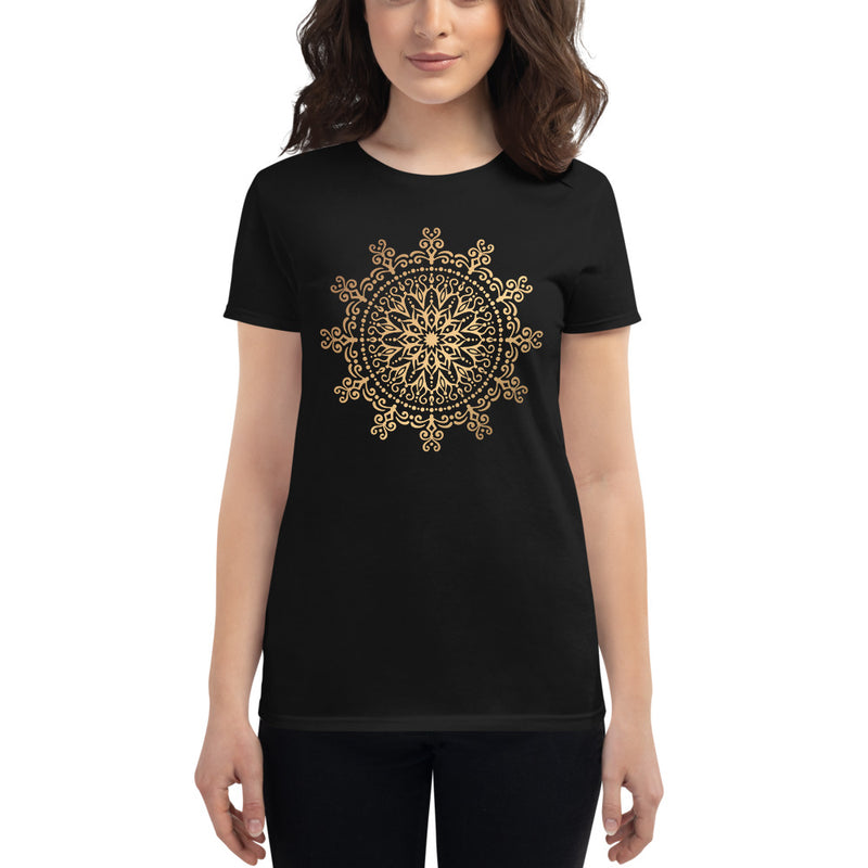 Cosmic Connector (Golden Mandala) - Women's short sleeve t-shirt