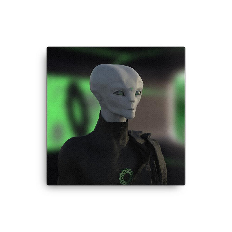 Alien Clothing - Zylok Portrait Alien On Canvas - Alien Symbology