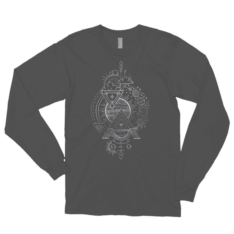 Interplanetary Geometry 3 - Long sleeve t-shirt