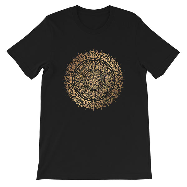 Rings Of Heaven (Golden Mandala) - Short-Sleeve Unisex T-Shirt