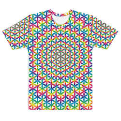 Rainbow Flower Of Life All Over Men's T-shirt