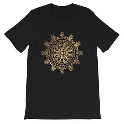 Cosmic Connector (Golden Mandala) - Short-Sleeve Unisex T-Shirt