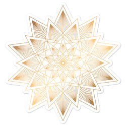 Golden Mandala 6 - Bubble-free stickers