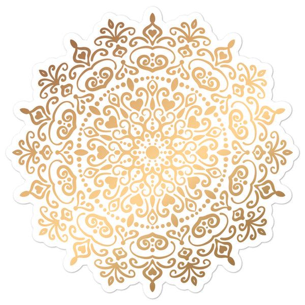 Golden Mandala 5 - Bubble-free stickers