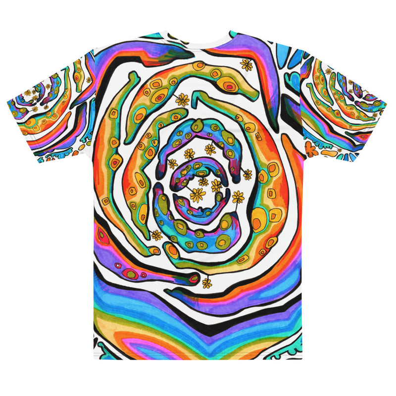 Psychedelic Flowers All Over Men's T-shirt