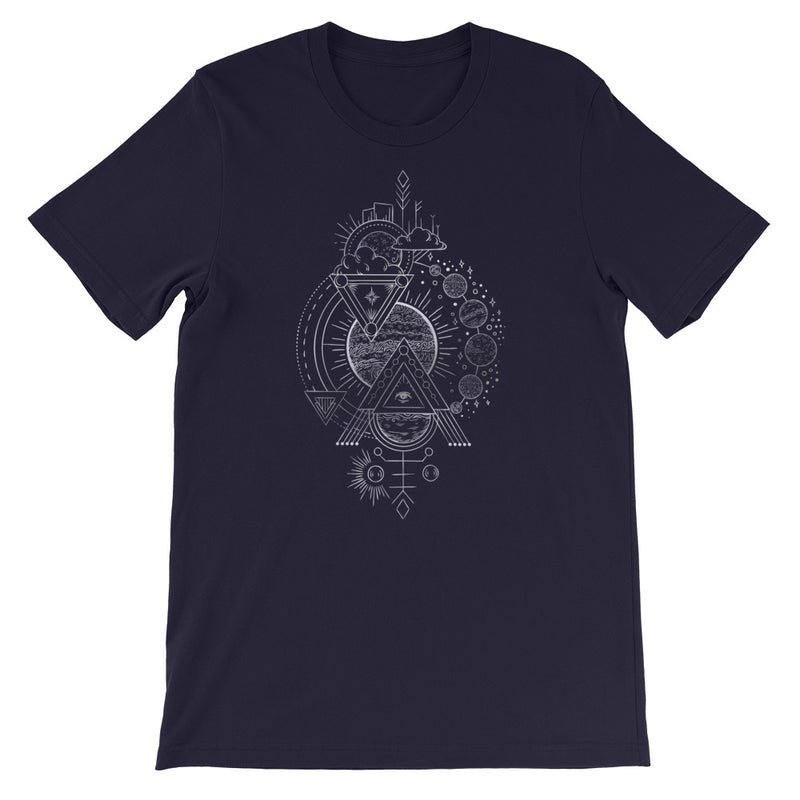 Interplanetary Geometry 3 - Short-Sleeve Unisex T-Shirt