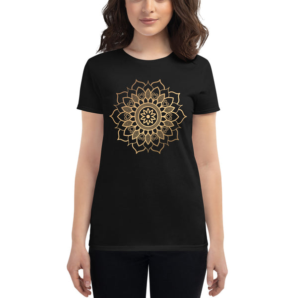 Nature's Path (Golden Mandala) - Women's short sleeve t-shirt