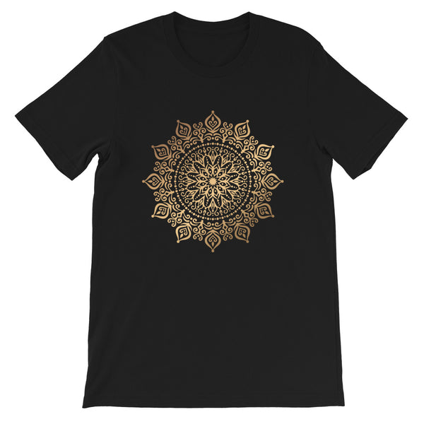 Fire Flower (Golden Mandala) - Short-Sleeve Unisex T-Shirt
