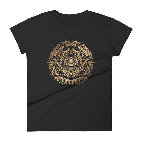 Rings Of Heaven (Golden Mandala) - Women's short sleeve t-shirt