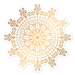 Golden Mandala 8 - Bubble-free stickers