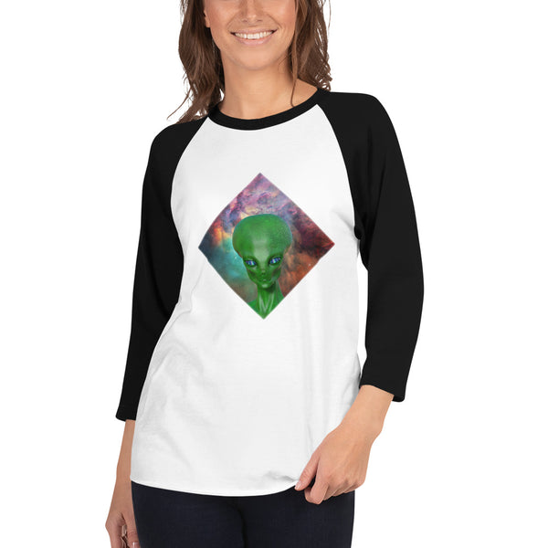 The Watcher - Women's 3/4 sleeve raglan shirt