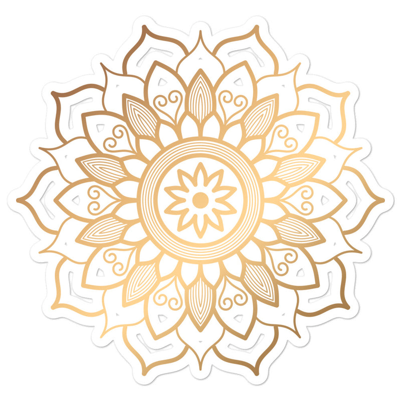 Golden Mandala 1 - Bubble-free stickers